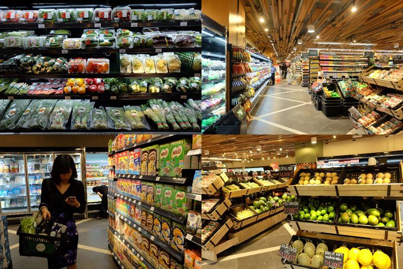 mua sắm tại siêu thị cao cấp Bon Grocer