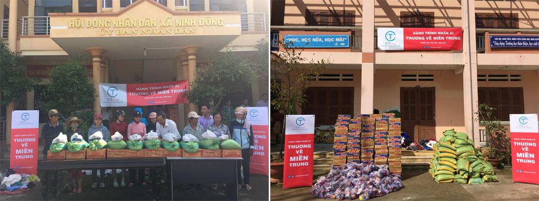 xã Ninh Phụng, Ninh Đông nhận quà C.T Group
